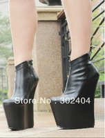2012 20cm high-heeled shoes Queen ultra-high platform wedges boots gz boots