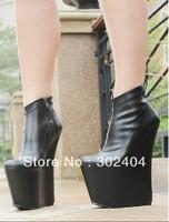 2012 20cm high-heeled shoes Queen ultra-high platform wedges boots gz boots