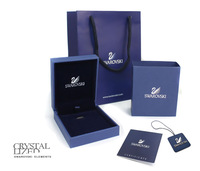 Simulated SWA Gift Box High Quality Fashion Jewelry Packaing Box Tags Tote Bags Certificate Sets For Earrings Necklaces Rings