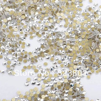 2MM Flatback Glass Rhinestone Buttons White Color -1440PCS