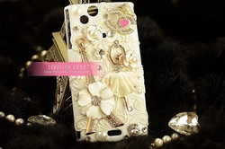 Paris of love costly mobile case for iPhone4 iphone 5 case cell of pearl protection casing outside wholesale accessories(China (Mainland))