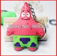Newest  2GB 4GB 8GB 16GB Patrick Star Silicone Usb 2.0 flash memory disk usb pen drive  memory stick,Free shipping+10pcs/lot