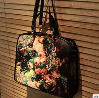 2013 new Italian painting flower lady bag bag lady flowers restoring ancient ways Shoulder bag  free shipping