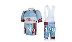 NEW Arrivals 2013 AG2R LA Mondiale team short sleeve cycling jersey/cycle wear of bib shorts/bicycle jersey(China (Mainland))