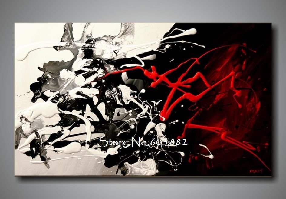 about black white and red abstract paintings red abstract wall art red