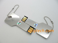 10pcs Metal Key Shape USB Flash Drive Real 2GB 4GB 8GB 16GB 32GB Silver Key USB pen drive Metal USB Gift Free Shipping