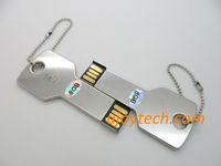 10pcs Metal Key Shape USB Flash Drive Real 2GB 4GB 8GB 16GB 32GB Silver Key USB pen drive Metal USB Gift Free Shipping