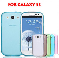 High Quality Ultra Thin & Light Soft TPU Skin Protective Cover case for Samsung Galaxy S3 i9300  free shipping with Retail Box