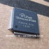100% NEW ORIGINAL 2pcs Wiznet W5100 QFP-80  + 2pcs 16MHz crystal Kit  for arduino Ethernet Shield