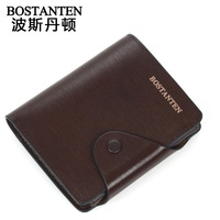 Business casual cowhide male wallet vertical wallet b30052 BOSTANTEN MEN'S