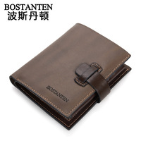 BOSTANTEN MEN'S Vintage casual cowhide male wallet vertical wallet b30102