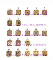 10pcs/lot DHL/FEDEX/UPS/EMS Free shipping Golden Homebutton with Colorful Diamonds/Stones Replacement for Apple IPHONE5
