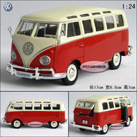 New Volkswagen Samba Classical Minibus 1:24 Diecast Model Car With Box Red Toy collection B127