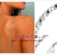 Noble diamond metal bra shoulder strap rhinestone eco-friendly length adjustable tube top spaghetti strap wedding dress