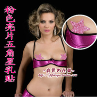 Pink five-pointed star paillette breast petal disposable chest breathable sexy papilla at home