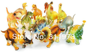 Simulation Early Childhood Dragon model plastic toy Educational toy Toys Kit 12pcs/set