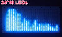 24*16 BLUE LED Audio Digital Level Meter display Spectrum Analyzer for  home amplifer