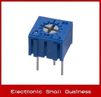 100pcs/1lot    3362P-1-502LF 3362P 5K Trimpot Trimmer Potentiometer   Free Shipping