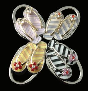 Fr  wholesale slipper shape foldable purse hangers,nice gift for ladies bag holder WSA100 ,12PCS/LOT