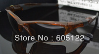 New Arrival HALF JACKET Clear Transparent Brown TR90 Frame Golden O Logo Polarized Lens Men&#39;s Cycling Glasses Freeshipping