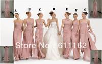 2013 Mix Order New Sexy Strapless Pink Chiffon Babyonline Evening Dresses Bridesmaid Dresses