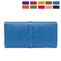 Women's medium-long wallet female drawstring vintage brief large capacity women's three fold wallet