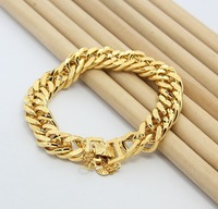 AAA+ High Quality, Free shipping, 24K gold plated Bracelet, Men's Jewelry, Wire-Cable Chain Bracelet,g old plated Jewelry KB8