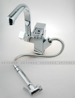 EMS DHL Free shipping fully brass pull out Faucet multi-function 360 degree rotating basin tap mixer hot and cold water