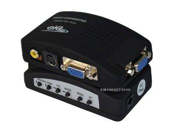 Free shipping  AV to VGA Converter S-video+VGA+ video to VGA Composite video to 15P VGA Video Converter