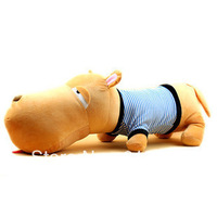 Free shipping Children toys 50cm stuffed animal couple big head dog cushion pillow plush toys E86