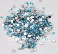 4MM Flatback Acrylic Rhinestone Buttons Aquamrine Blue Color -10,000 PCS