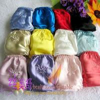 Silk panties female mulberry silk trigonometric panties low-waist lingerie care free shipping