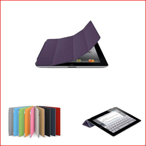 FEDEX DHL Freeshipping 50 Pc/lot Super Slim PU Leather Smart Cover Stand Protective Case For iPad 2 iPad 3 iPad 4 Multi-Color(China (Mainland))