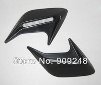 Free Shipping SUV Racing Air Flow Fender Mesh Port Holes Side Vent Sticker Black U0056