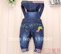 Newest Design!! Baby boy/Girls Jeans Overalls Long Trousers Fashion Kids Overall pants