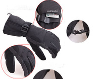 waterproof snow gloves Winter Ski snowboarding motorcycle cycling gloves Black free ship
