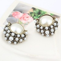 Minimum order $15 free shipping European fashion elegant luxury pearl fashion stud earring