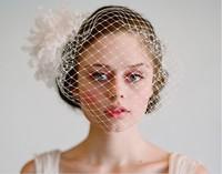 Handmade Bride Set auger Embroidery Three-dimensional Bud silk Flower Hair Band A0246