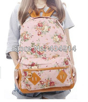 Fashion Vintage Cute Flower Girls Lady Canvas Handbag teenager School bag Book Campus shoulder Backpack bags