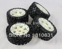 Freeshipping The nylon rear all-terrain tires kit for 23cc 26cc 29cc 305cc 5B baja