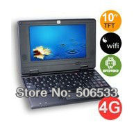 """10"""" student cheapest Mini laptop android 4.0 VIA8850 1.5GHz 1GB DDR3 4GB wifi Webcamera Netbook computer"""