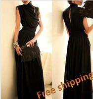 fashion star slim waist long design full dinner formal evening dress