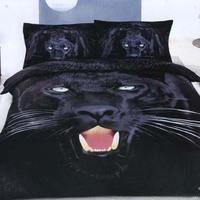 Textile 3d 100% cotton four pieces per set slanting strip leopard printing bedding set