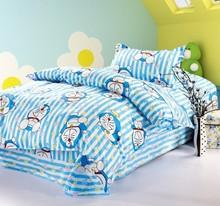 DORAEMON 4 pieces per set cartoon 100% cotton bedding set(China (Mainland))