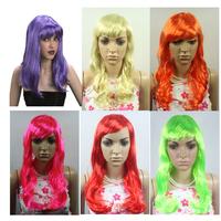 10 PCS,Multicolour cos wig,dance party wig
