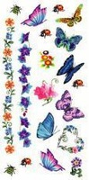 wholesale water tattoo sticker flower pattern wrist  butterfly  body sticker with good quality   free shipping