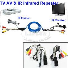 Freeshipping TV Extender AV Transmitter Sender 1 Receiver IR Infrared Repeater Cat5 NU101(China (Mainland))