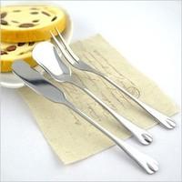 free shipping Dessert tableware stainless steel drop butter knife jam knife ice cream ice cream fan shell spoon