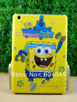 Newest Spongebob Cute Hard Back cover Case for Apple iPad mini Yellow MN92
