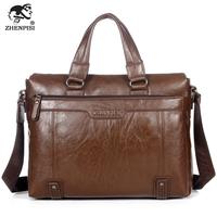 Leather man bag commercial handbag shoulder bag laptop bag vintage casual bag backpack